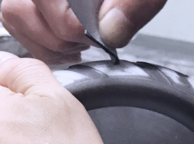 Precision Finishing of 3d bike parts